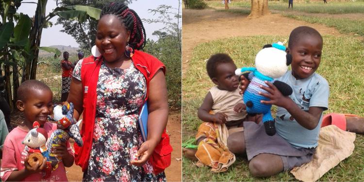 2020年ウガンダの難民居住区の子どもたちへ ©セーブ・ザ・チルドレン