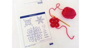 「かぎ針モチーフ編み図」がお届け袋の新しいデザインに!
