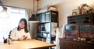 人気刺繍作家、石井寛子さんのアトリエ訪問