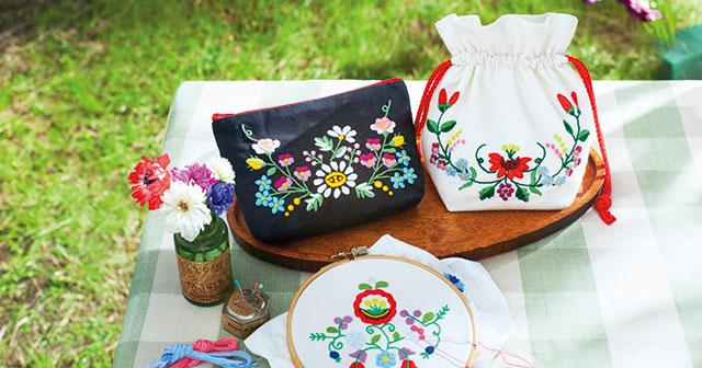 ハンガリー刺繍の魅力 カラフルな配色とバリエーション豊かな表情