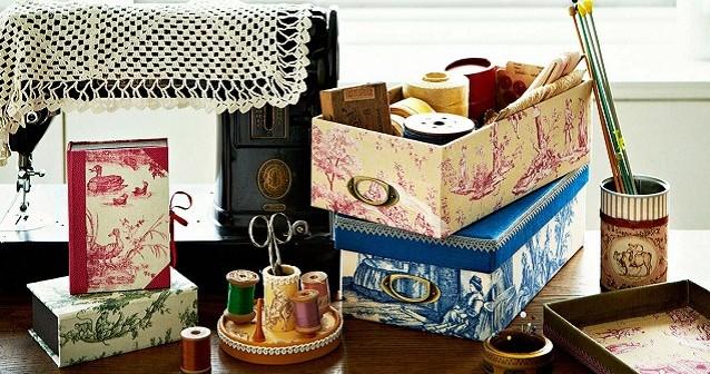 カルトナージュ 空き箱がアンティーク調の小箱に簡単リメイク