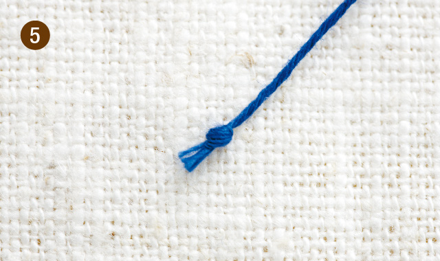 針で作る玉結びー手順5