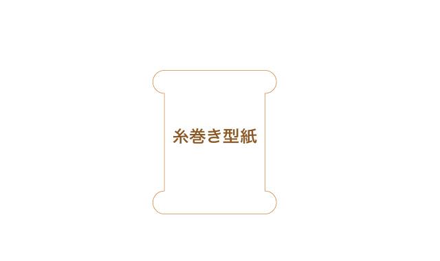 糸巻き型紙