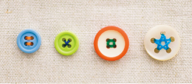 2つ穴ボタン・4つ穴ボタン・5つ穴ボタン