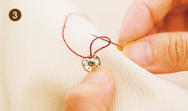 針と糸でスナップボタンを付ける場合3