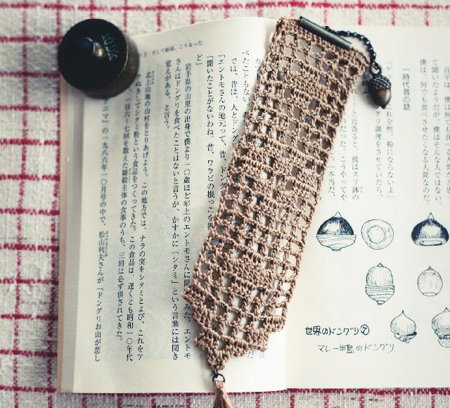 レース編みのブックマーカー