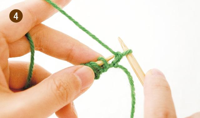 メリヤス編み 2段 フランス式 手順④