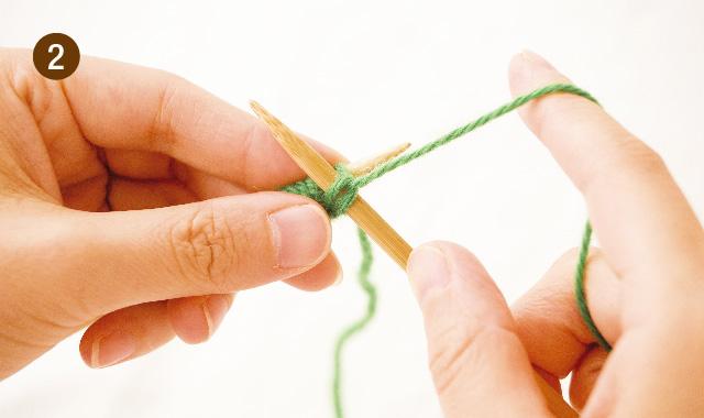 メリヤス編み アメリカ式 持ち方 手順②