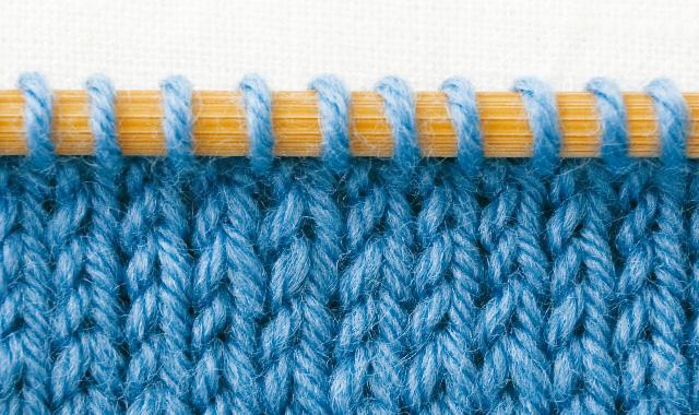 メリヤス編みの表側