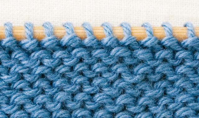 メリヤス編みの裏側