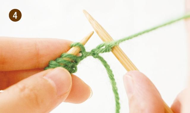 メリヤス編み 2段 アメリカ式 手順④
