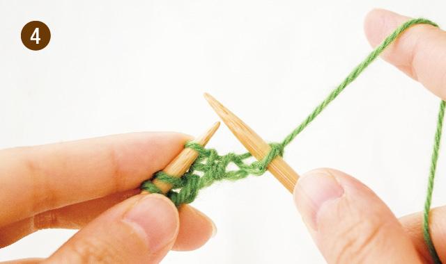 メリヤス編み 3段 アメリカ式 手順④