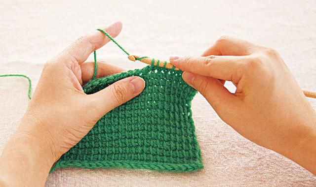 アフガン編み 往路