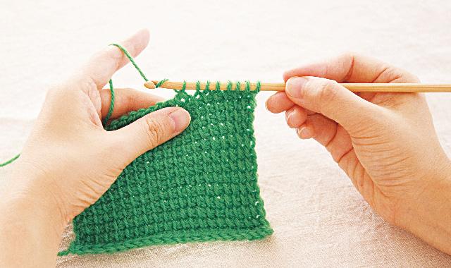 アフガン編み 復路