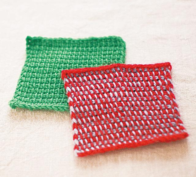アフガン編み できあがり