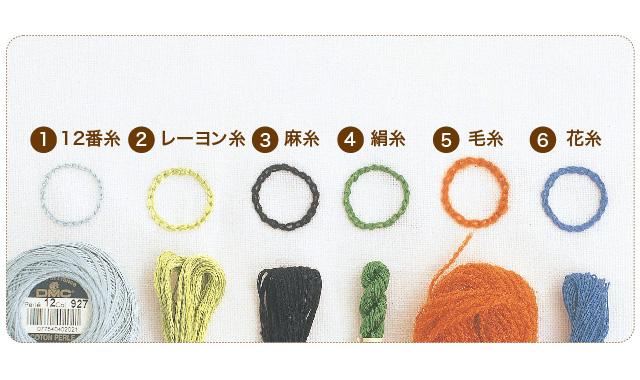 刺しゅう糸の種類