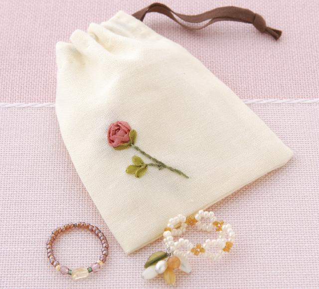 リボン刺繍