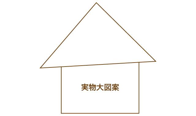 アップリケのお家 実物大図案