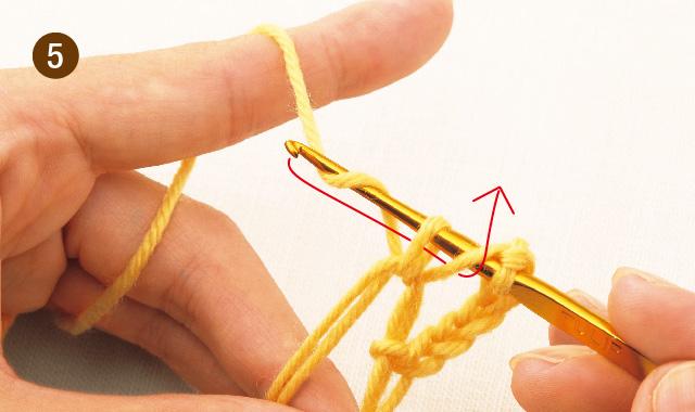 かぎ針編み 雪の結晶モチーフ 手順⑤