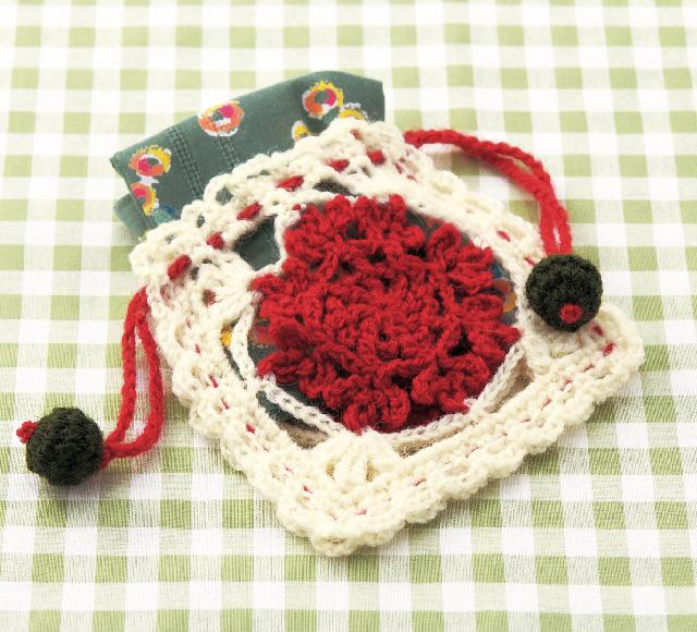 かぎ針編み きんちゃく