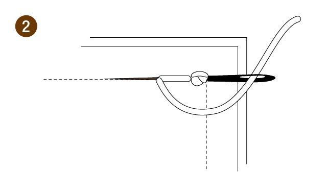 返し縫いの手順2