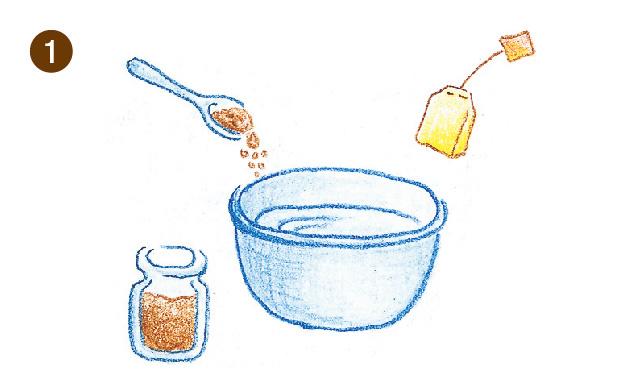 コーヒー染め・紅茶染め 手順①