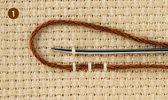 スウェーデン刺繍 クロス刺し その1 手順①