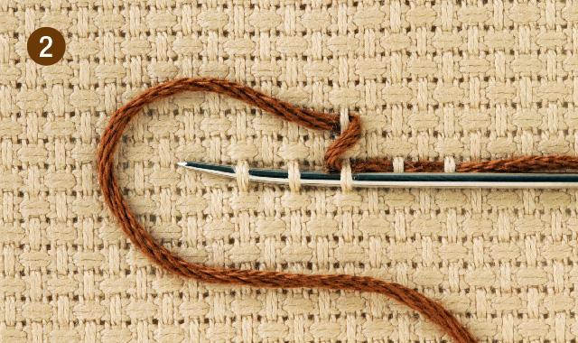スウェーデン刺繍 クロス刺し その1 手順②