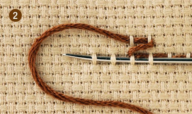 スウェーデン刺繍 クロス刺し その2 手順②