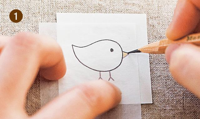 布用複写紙を使う場合 手順①