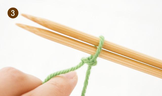 メリヤス編み 作り目 手順③
