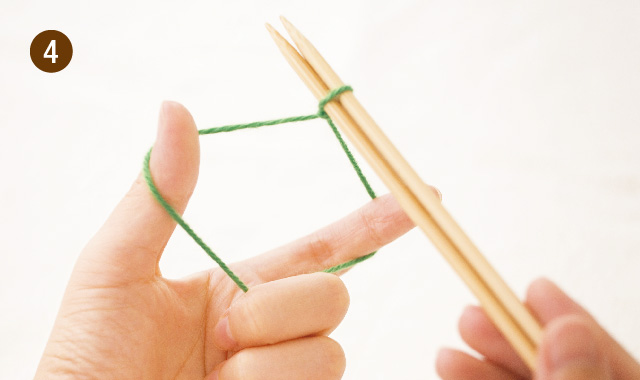 メリヤス編み 作り目 手順④