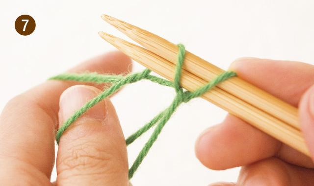 メリヤス編み 作り目 手順⑦