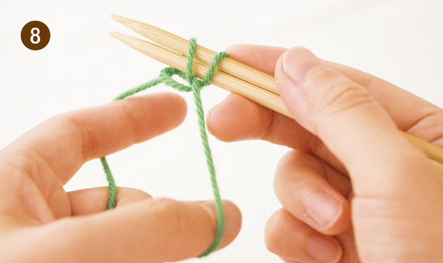 メリヤス編み 作り目 手順⑧