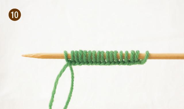 メリヤス編み 作り目 手順⑩