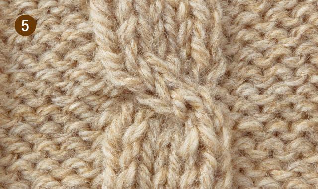 実際になわ編み針を使って交差模様を編んでみよう! 手順⑤