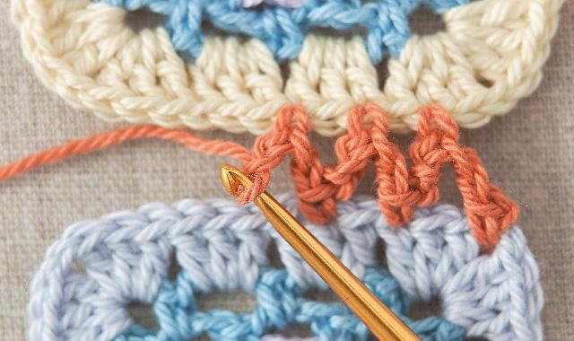 くさり編みでつなぐ 手順①