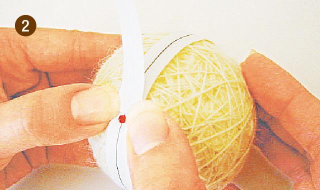 手まりの作り方 地割り糸のかがり方 手順②