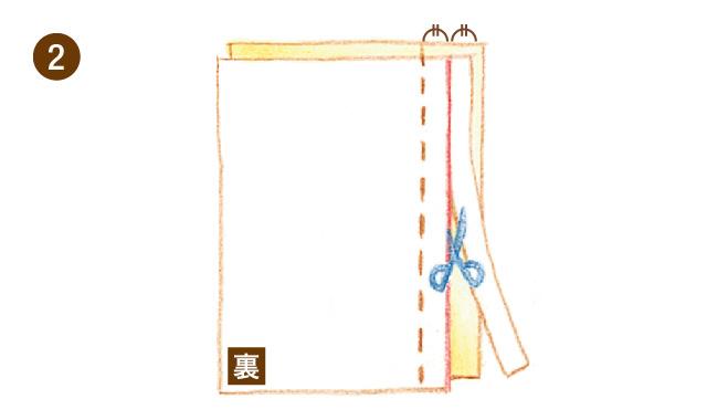 折り伏せ縫い 手順②