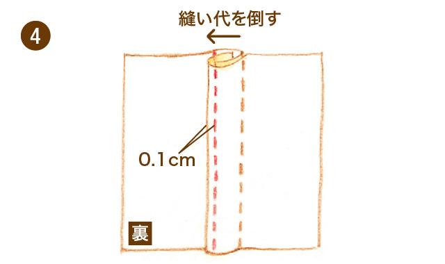 折り伏せ縫い 手順④