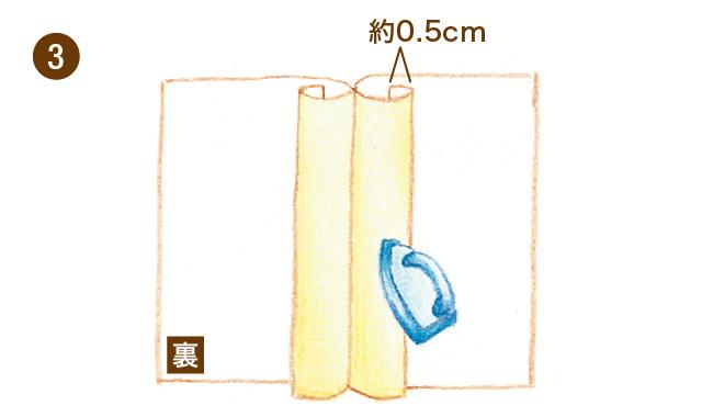 割り伏せ縫い 手順③