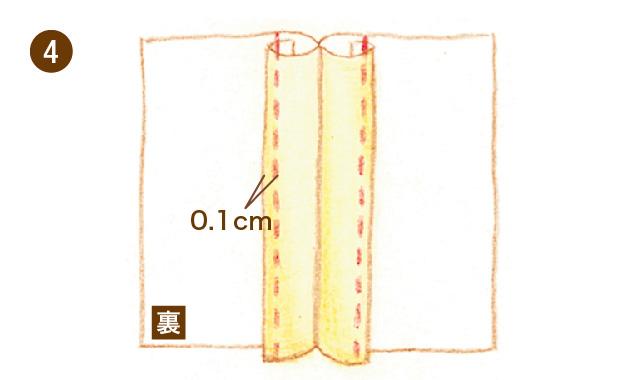 割り伏せ縫い 手順④
