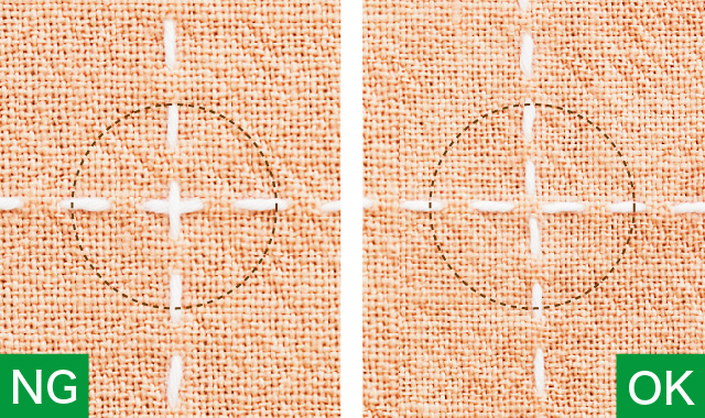 十字の刺し方 刺し方のポイント 十字