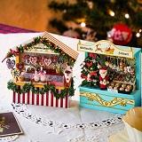 ミニチュアドイツのクリスマスマーケットの会