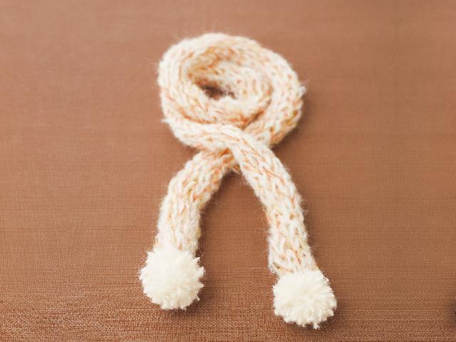 指編み マフラー