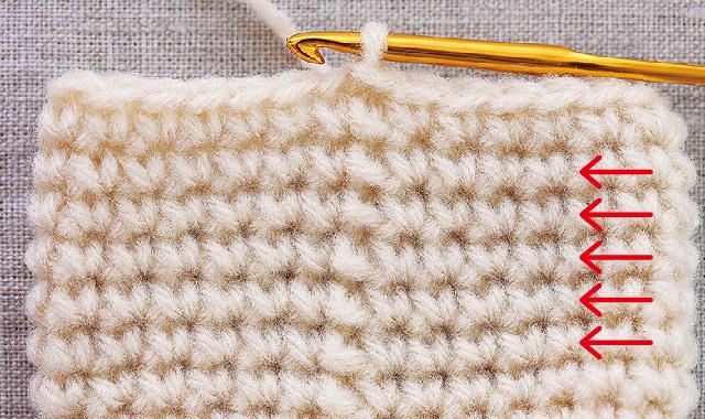 こま編みの編み方 正しい編み地を確認してみよう 輪編み(同じ方向に進む)