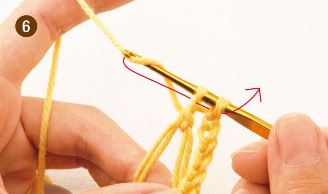 かぎ針編み 雪の結晶モチーフ 手順⑥