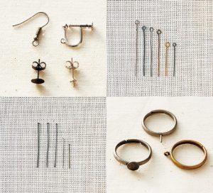 アクセサリー金具の種類や使い方