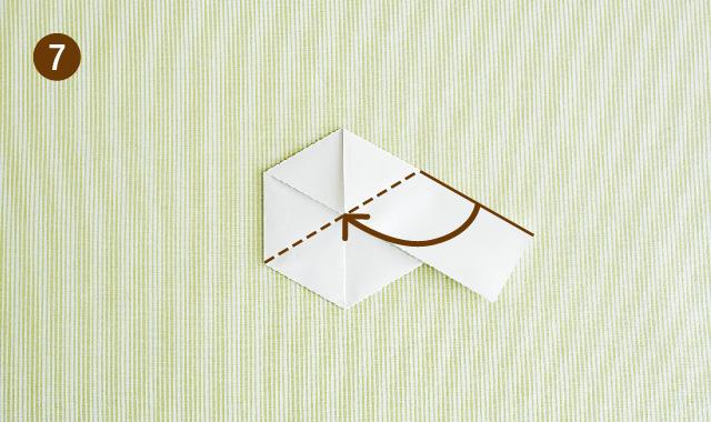六角形 折り方 手順⑦