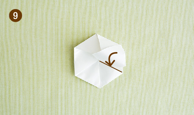 六角形 折り方 手順⑨